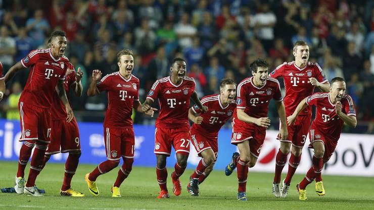 Bayern jubeln über den verschossenen Penalty von Chelsea