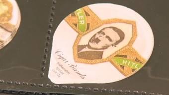 Für Sammler interessant, für die meisten aber nur geschmacklos: Kafffeerahmdeckel mit Hitler-Porträt
