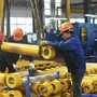 Chinesische Arbeiter in der Stadt Hangzhou: die Wirtschaft des Landes ist langsamer gewachsen als zuvor.