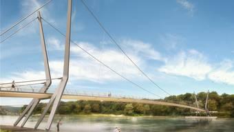 Wasservögel wie Schwäne könnten die Seilkonstruktion, vor allem die dünnen senkrechten Seile, nicht wahrnehmen.