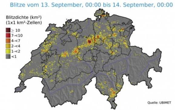 Diese Karte zeigt, welche Regionen besonders betroffen waren.