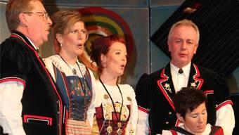 Reitnauer Jodler-Quartett begeistert mit dem Lied «Stärne».