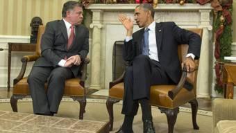 Jordaniens König Abdullah im Gespräch mit Obama