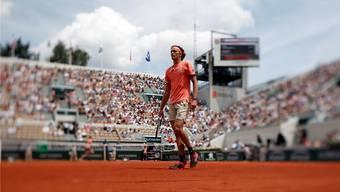 Steht erstmals in den French-Open-Viertelfinals: Alexander Zverev.