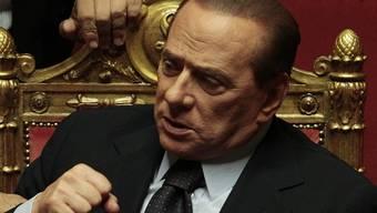 Italiens Premier Silvio Berlusconi im Parlament