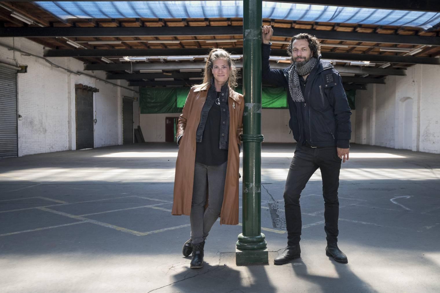 Céline Fuchs und Walter Boos sind die Initianten des Projekts «Eventhalle». (Bild: Tagblatt/Adriana Cortiz Cardozo)