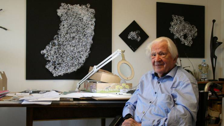 Erwin Rehmann widmet sich auch mit 99 Jahren noch seiner Passion: der Kunst.