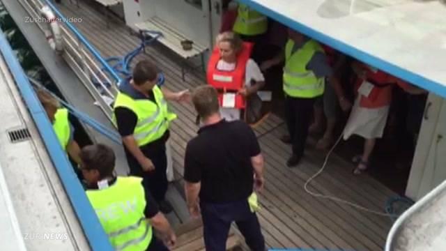 Massen-Evakuierung auf dem Zürichsee