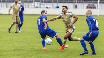 Ihn muss der Türkische SC Solothurn im Griff haben: Bellachs mehrfacher Zweitliga-Topskorer Alessandro Fragale (Mitte).