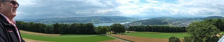 4. Etappe: Blick vom Hombergturm ins obere Seetal