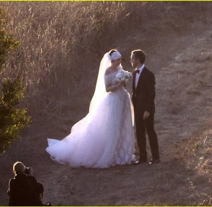 Hochzeit bei Sonnenuntergang: Anne Hathaway und Adam Shulman.