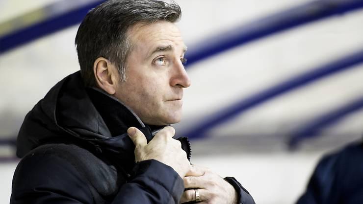 Serge Pelletier, Trainer des HC La Chaux-de-Fonds, musste zum Auftakt der Playoff-Halbfinals gegen den HC Thurgau lange um den Sieg bangen