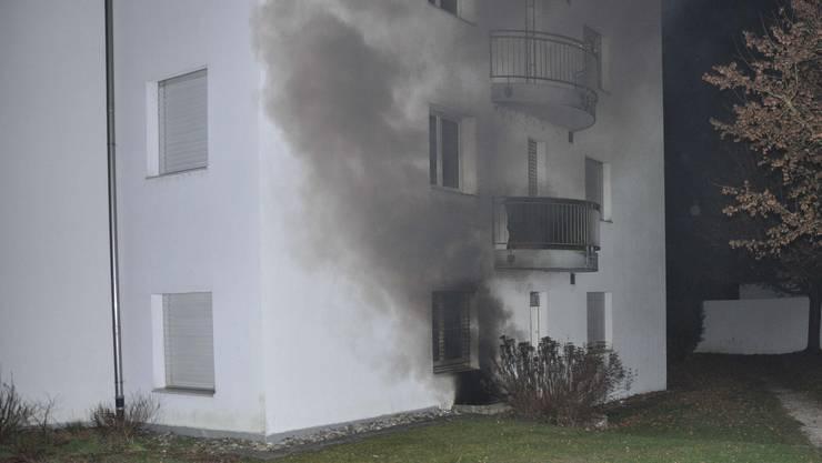 Rauch stieg aus dem Keller. (Archiv)