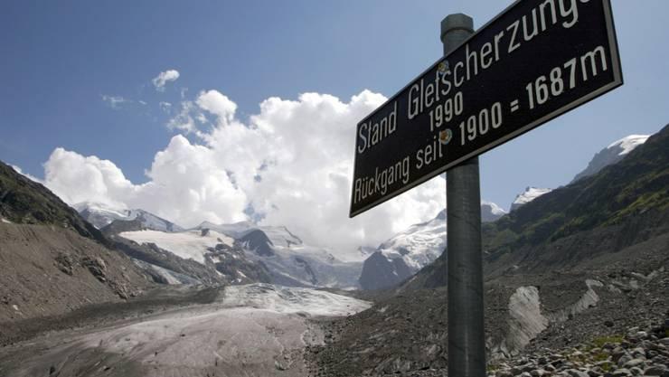 Die Gletscher schmolzen nach der Eiszeit wegen steigender Konzentrationen von Treibhausgasen. (Archivbild)