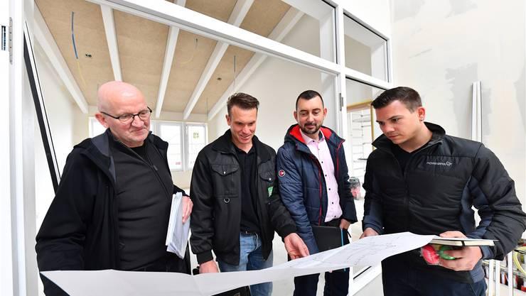 Von links: Rolf Mettauer, Dominic Roppel, Mirco Pittroff und Simon Kamber.