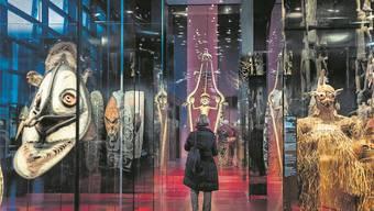 Ausstellung im Pariser Völkerkundemuseum Quai Branly. Christophe Petit Tesson/EPA