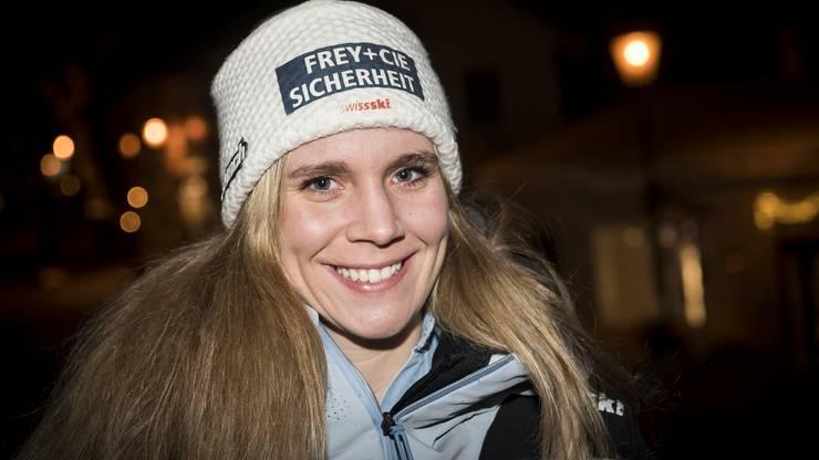 Andrea Ellenberger trainierte noch im vergangenen Herbst auf eigene Faust. Jetzt hat sie WM-Gold aus dem Team-Event in der Tasche und startet heute beim Riesenslalom.