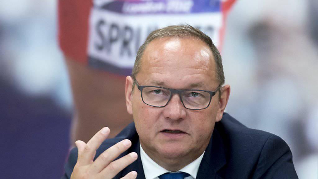 """Jürg Stahl, Präsident von Swiss Olympic und auch Präsident der gescheiterten Kandidatur """"Sion 2026"""", erklärt, warum die Schweiz für die Winterspiele 2030 nicht gleich wieder kandidieren will"""