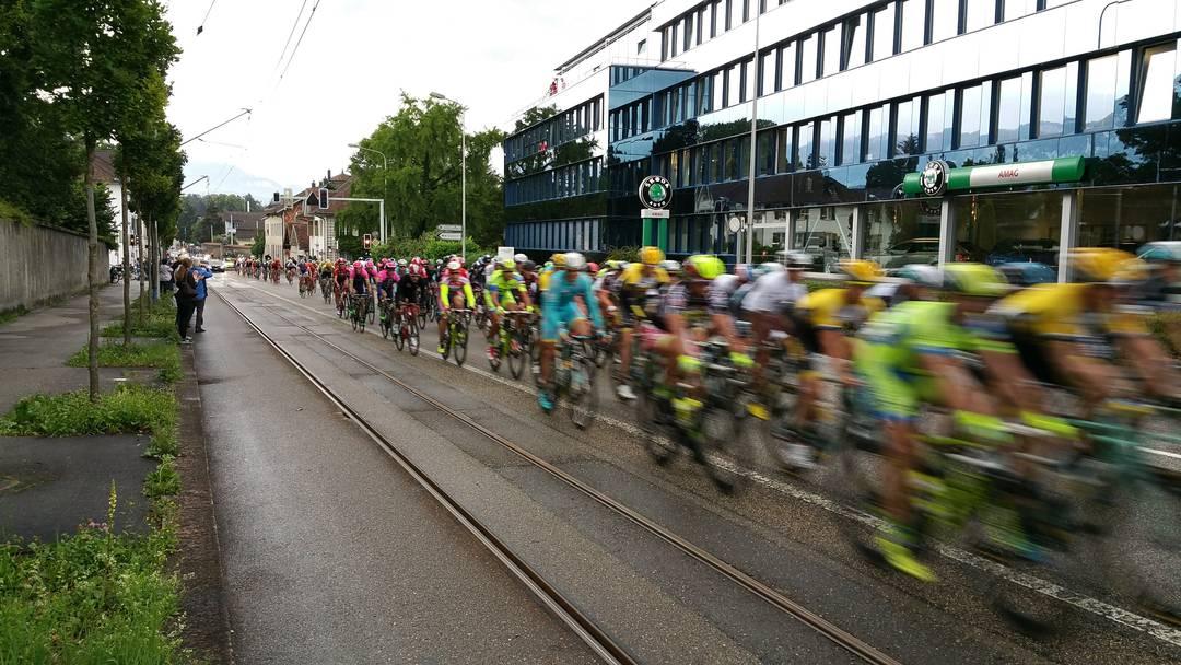 So fahren die Radprofis durch Solothurn
