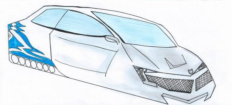 Ein futuristisches Auto