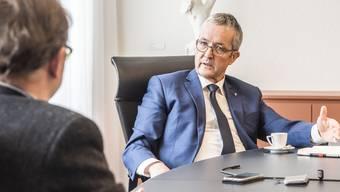 Thomas Weber, Gesundheitsdirektor Baselland: «Wir sind in unseren Spitälern zum Glück weit von der  Situation im März und April entfernt.» (Archivbild)