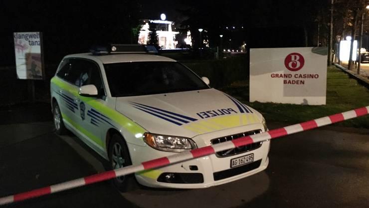 Ein Drohanruf führte zu einem grossen Polizeieinsatz sowie zur Evakuierung des Grand Casino Baden.
