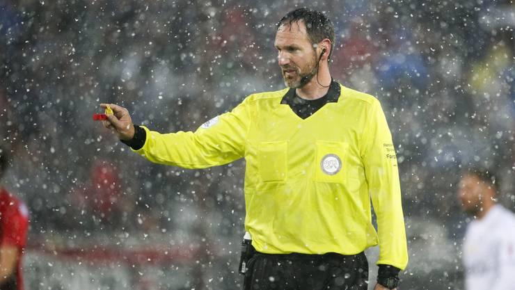 Nikolaj Hänni pfiff schon das Aarauer Schneespiel gegen Lausanne Anfang Mai – damals gewann der FCA 3:0.