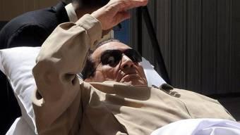 Der frühere ägyptische Machthaber Husni Mubarak vor dem Urteil