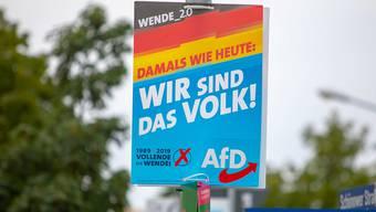 Die Wahlplakate der AfD sorgen einmal mehr für einen Aufruhr in der deutschen Politik. (Archivbild)