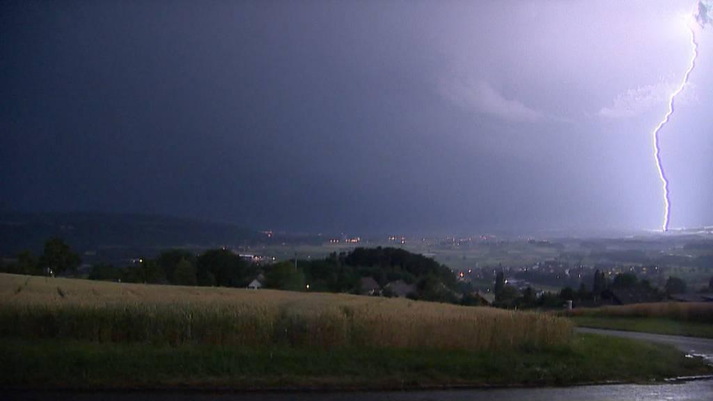 Heftiges Gewitter zog über die Schweiz