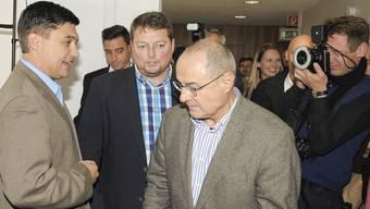 2015 musste Herausforderer Christoph Buser (li.) dem Amtsinhaber Claude Janiak (re.) den Vortritt lassen.