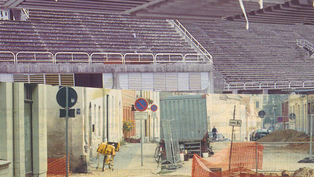 Die Collage Ohne Titel, Nr. 9 aus der Serie «Walking Day» (2001) von Boris Rebetez ist in der Jubiläumsausstellung «Ewige Gegenwart» in Zürich zu sehen. Anlass ist das 150-jährige Bestehen der Graphischen Sammlung ETH Zürich. (Archiv)