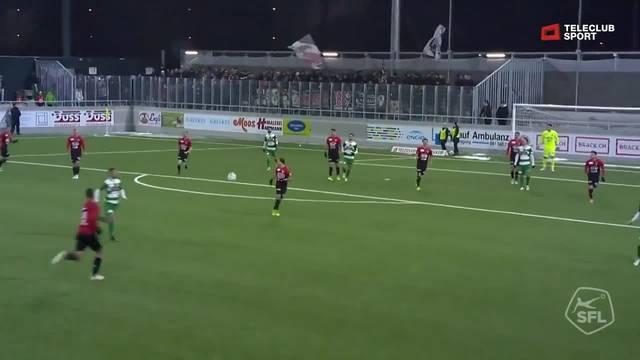 Challenge League, 2018/19, 18. Runde, SC Kriens - FC Aarau, 1:2 Sulejmani