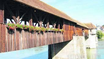 Die Holzbrücke zwischen Stein und Bad Säckingen