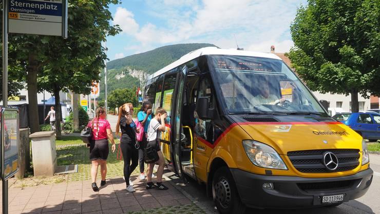 Der Ortsbus wird in Oensingen rege genutzt, zu 50 Prozent von Schülerinnen und Schülern.