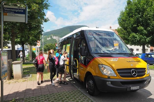Der Ortsbus wird in Oensingen rege genutzt.