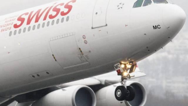 Ein Airbus A340 der Swiss hatte Probleme mit dem Fahrwerk