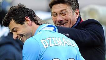 Blerim Dzemaili wird weiterhin von Walter Mazzarri trainiert.