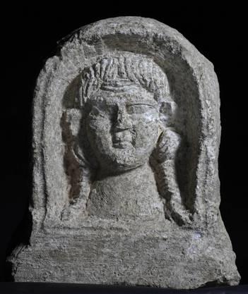 Das freigelegte Relief der römischen Göttin. ho