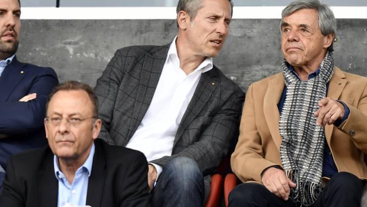 Heinz Spross (ganz rechts) hat sich bei den Grasshoppers zurückgezogen