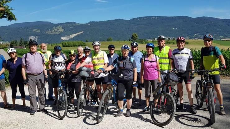TeilnehmerInnen der E-Bike-Herztour-Olten der Pro Senectute Olten und der Herzstiftung Olten.