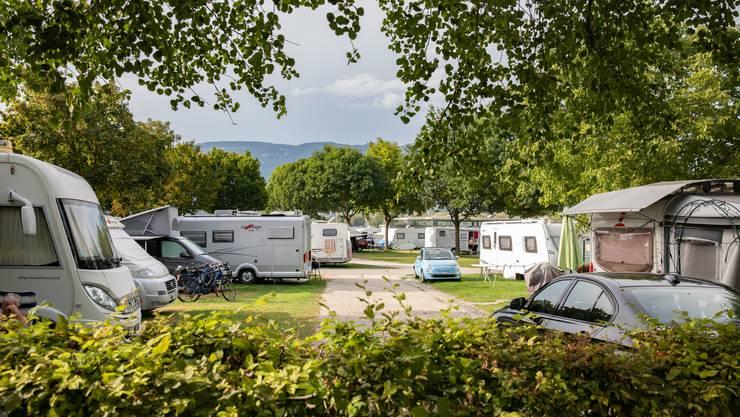 Hier gings im Juni/Juli ab «wie eine Rakete»: Der TCS-Campingplatz an der Aare in Solothurn