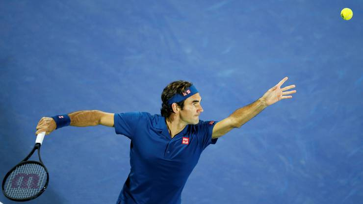 Impressionen von der Finalpartie zwischen Roger Federer und Stefanos Tsitsipas in Dubai.