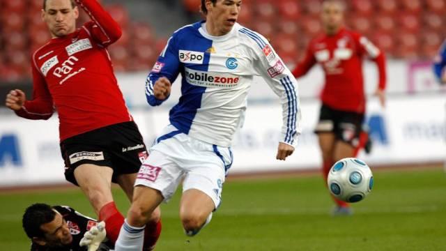 GC-Stürmer Linz kann vom Fehlgriff des Sion-Keeper El Hadary nicht profitieren