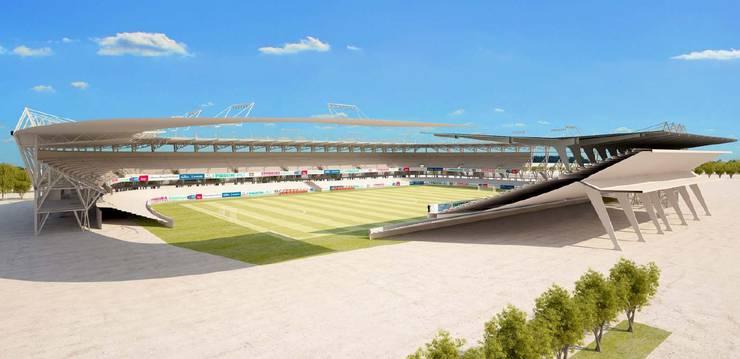 Auch das italienische Fussballstadion in Novara baute Nüssli.