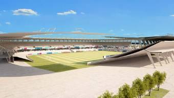 So könnte das neue GC-Stadion auf dem Hardturm aussehen