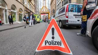Freie Strasse gesperrt