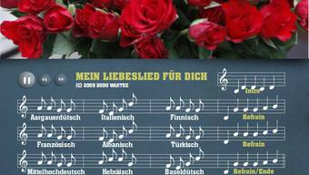 Bodo Wartkes Liebeslied in über 88 Sprachen
