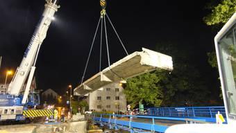 Abbau Reppischbrücke