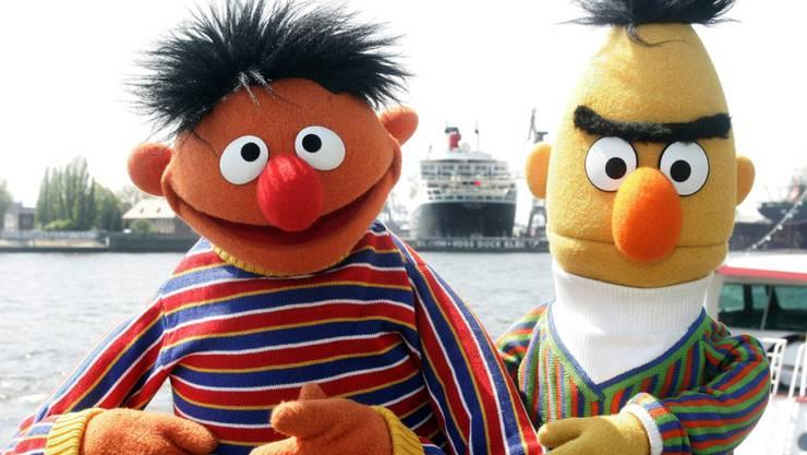 """Ernie und Bert, zwei der beliebtesten Figuren der """"Sesamstrasse"""", sind schwul. Autor Mark Saltzmann setzte dem jahrelangen Rätselraten ein Ende. (Archivbild)"""